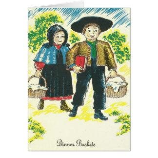 Cartão Beterrabas vermelhas da receita da cesta do