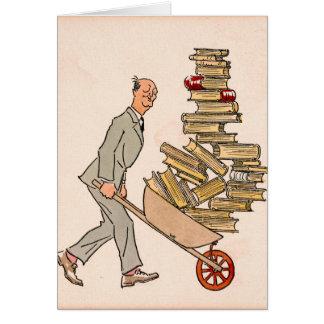 Cartão Bibliophile feliz 1930