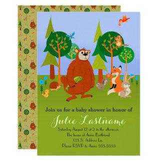 Cartão Bichos bonitos da floresta