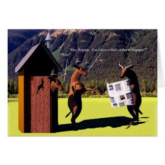 Cartão Bichos - cervos, caro John - dependência