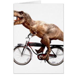 Cartão Bicicleta da equitação de Trex