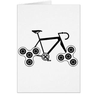 Cartão Bicicleta do girador da inquietação