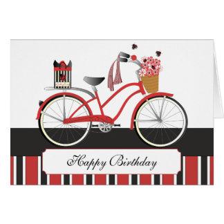 Cartão Bicicleta do joaninha