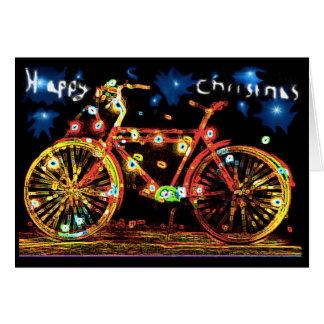 Cartão Bicicleta do Natal feliz