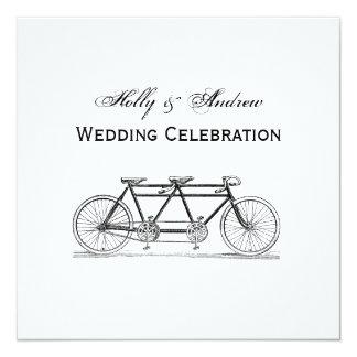 Cartão Bicicleta do vintage construída para