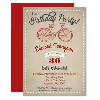 Cartão Bicicleta do vintage dos meninos dos homens do