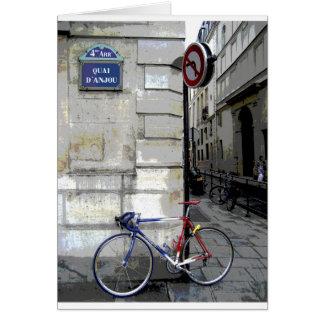 Cartão Bicicleta parisiense