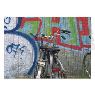 Cartão Bicicletas de Amsterdão