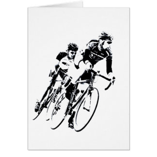 Cartão Bicycle pilotos na volta