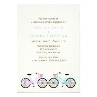 Cartão Bicycles o seu e dela chá de panela