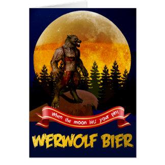 Cartão Bier de Werwolf do alemão - homem-lobo bávaro