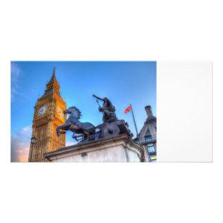 Cartão Big Ben e estátua de Boadicea