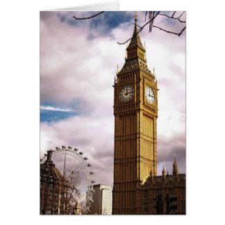 Cartão Big Ben e o olho de Londres