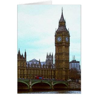 Cartão Big Ben, palácio de Westminster, Londres, Reino