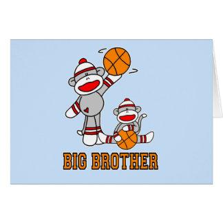 Cartão Big brother do basquetebol de Sockmonkey