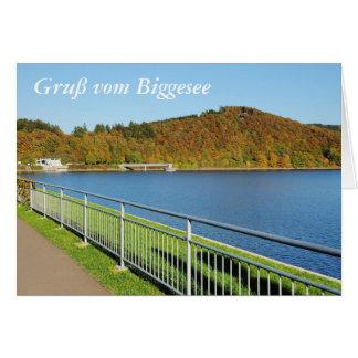 Cartão Biggetalsperre no outono