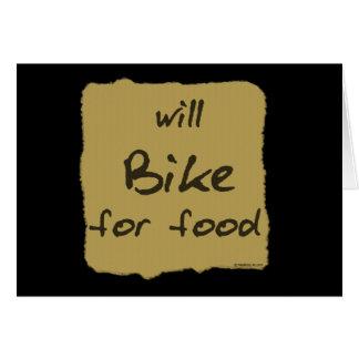 Cartão Bike para a comida