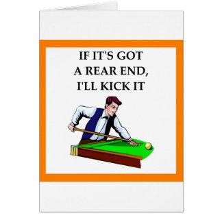 Cartão bilhar