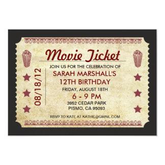 Cartão Bilhete do filme