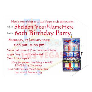 Cartão Bilhete do partido do tema do casino do slot