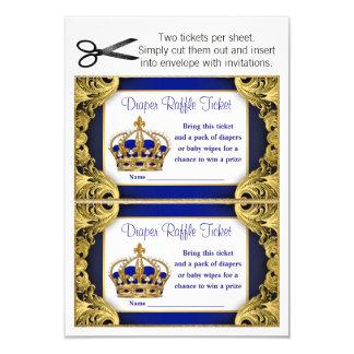 Cartão Bilhetes do Raffle da fralda do príncipe bebé