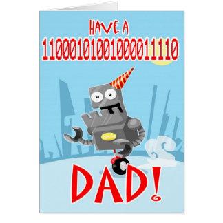 Cartão binário do pai e do dia dos pais do