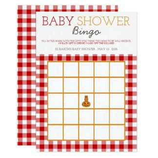 Cartão Bingo do chá de fraldas da coruja & do guingão da