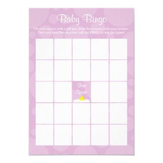 Cartão Bingo do chá de fraldas - tema Ducky de borracha -