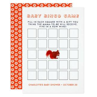 Cartão Bingo rústico do chá de fraldas da queda bonito do