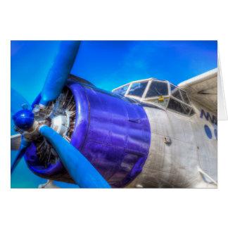 Cartão Biplano do vintage de Antonov AN-2