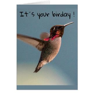 Cartão Birday feliz!