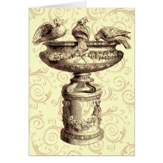 Cartão Birdbath do vintage