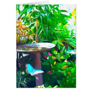 Cartão Birdbath em Key West