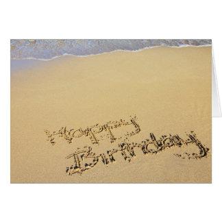 Cartão Birthday Card: Happy Birthday on Beach the