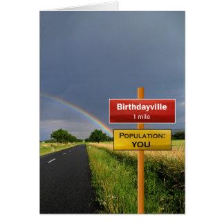 Cartão Birthdayville alegre