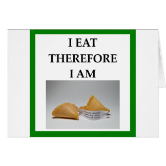 Cartão biscoito de fortuna