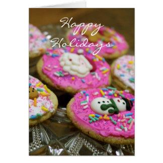 Cartão Biscoitos do feriado
