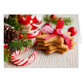 Cartão Biscoitos do Natal com decoração festiva
