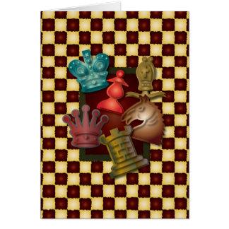 Cartão Bishop Penhor do cavaleiro do rei rainha do design