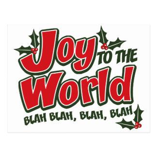 Cartão blá blá do mundo da alegria