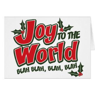 Cartão blá blá do mundo da alegria (luz)