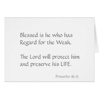 Cartão Blessed é ele que tem a consideração para o fraco