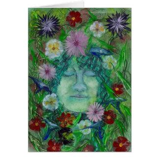 Cartão Blodeuwedd - esposa da flor