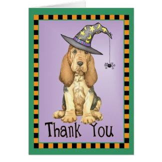 Cartão Bloodhound do Dia das Bruxas