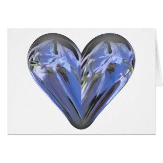 Cartão bluebell do coração