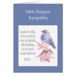 Cartão Bluebird alegre da escritura encorajadora da