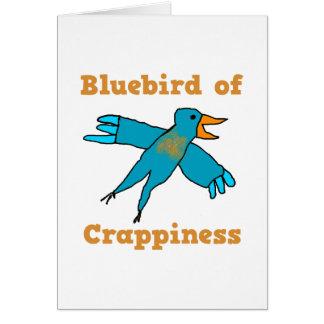 Cartão Bluebird de Crappiness