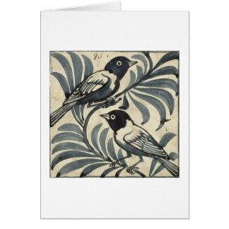 Cartão Bluebirds (w/c no papel)