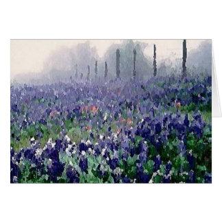 Cartão Bluebonnets no primavera