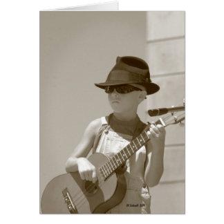 Cartão Bluegrass com um CF da atitude